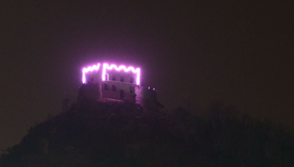 Daqingshan Castle At Night