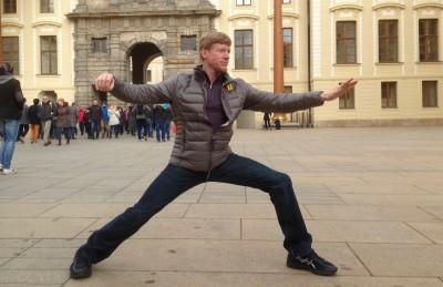 Rick at Prague castle - Dan Bian