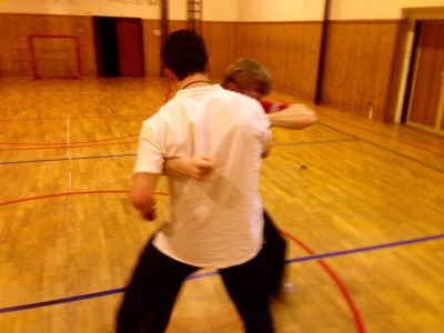 Rick and Lukas push hands II