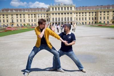Master Chen Zhonghua visiting Pawel Müller in Vienna, Austria.