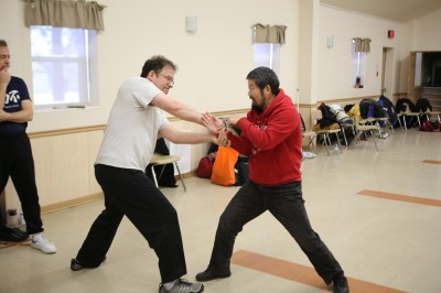 Master Chen and Josh Landau