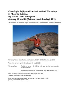 Tai Chi workshop 2019