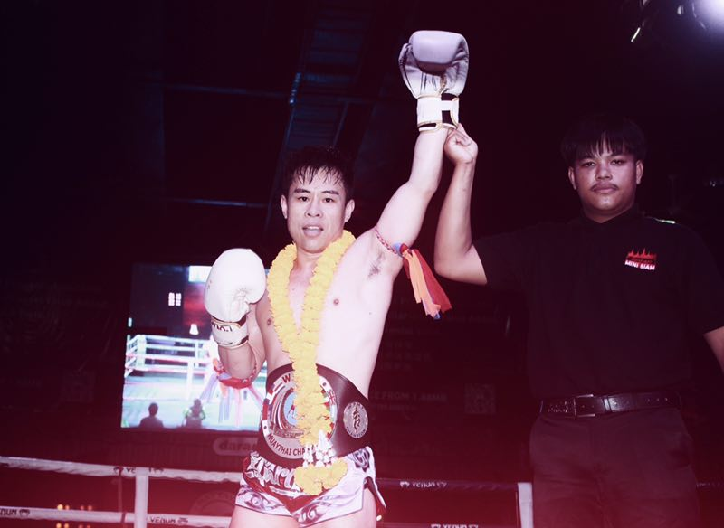 Sun Yang wins Muay Thai Gold Belt 20190222