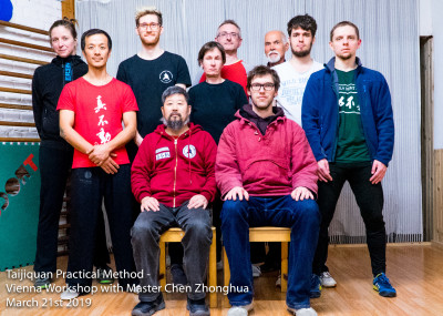 Participants of the Vienna Workshop with Master Chen Zhonghua in 2019