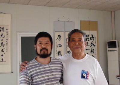 Chen Zhonghua with Grandmaster Feng Zhiqiang